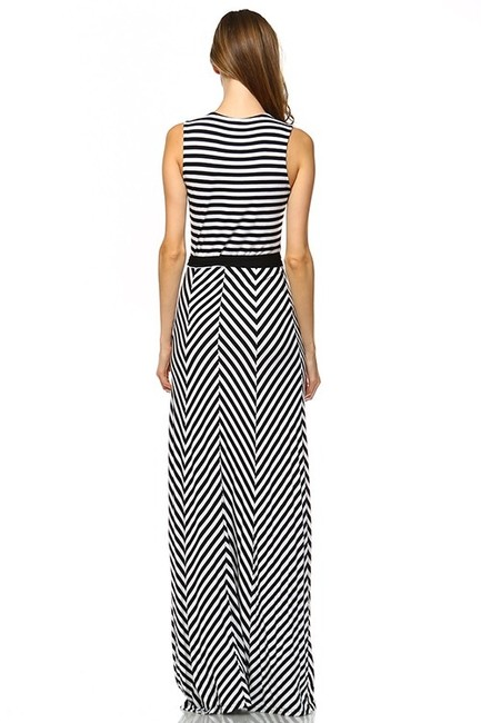 Black and White Maxi Dress by York Couture Image 3