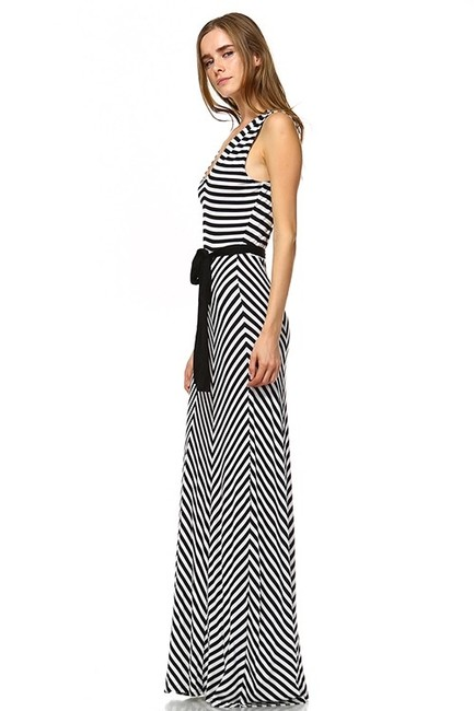 Black and White Maxi Dress by York Couture Image 4