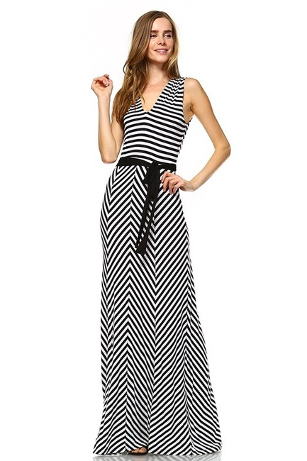 Black and White Maxi Dress by York Couture Image 5