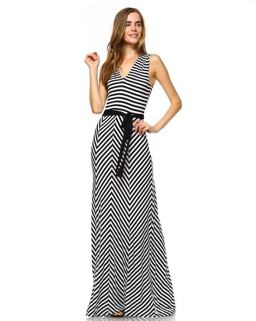 Black and White Maxi Dress by York Couture Image 6
