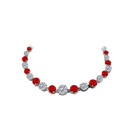 Preload https://img-static.tradesy.com/item/25128616/red-ruby-and-cz-graduated-925-sterling-silver-necklace-0-0-540-540.jpg
