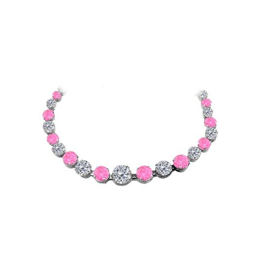 Preload https://img-static.tradesy.com/item/25128622/pink-sapphire-cz-graduated-925-sterling-silver-necklace-0-0-540-540.jpg