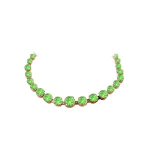 Marco B Peridot Graduated Necklace in 14K Rose Gold Vermeil