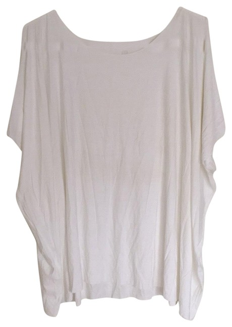 Item - White Incline Cap Sleeve Activewear Top Size 8 (M)
