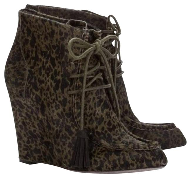 Item - Green and Black Mia Wedge Boots/Booties Size US 8 Regular (M, B)