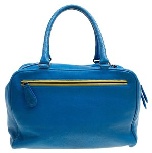 Bottega Veneta Leather Satchel in Blue