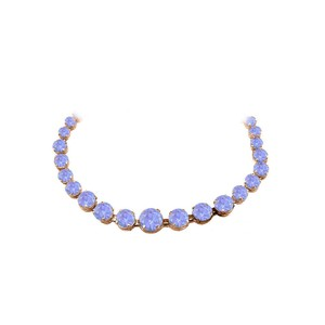 Marco B Tanzanite Graduated Necklace in 14K Rose Gold Vermeil