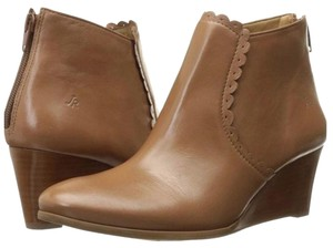 Jack Rogers Wedge Leather Classic Spring Cognac tan Boots