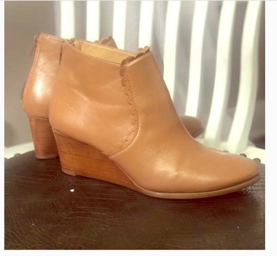 Jack Rogers Wedge Leather Classic Spring Cognac tan Boots Image 2
