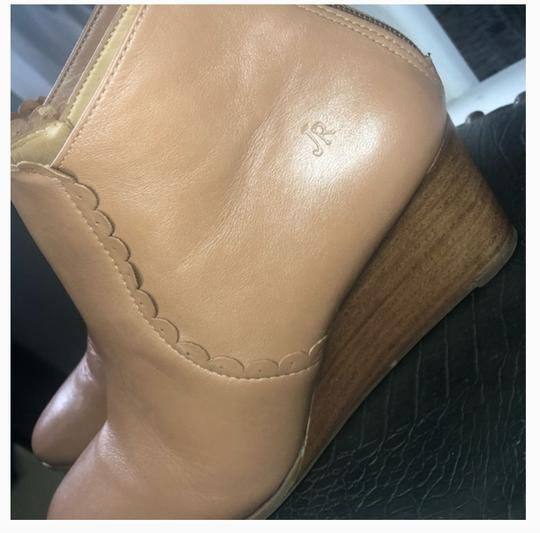 Jack Rogers Wedge Leather Classic Spring Cognac tan Boots Image 3
