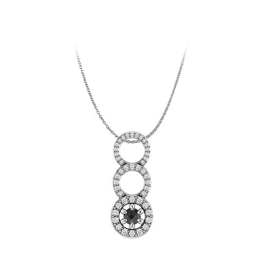 Preload https://img-static.tradesy.com/item/25129033/black-onyx-cz-graduated-circle-pendant-14k-white-gold-necklace-0-0-540-540.jpg