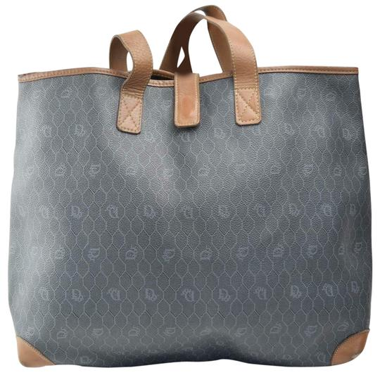 Preload https://img-static.tradesy.com/item/25129037/dior-vintage-xl-brown-honeycomb-print-on-greyish-green-coated-canvas-and-camel-leather-tote-0-1-540-540.jpg