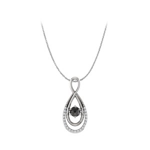 Marco B Natural Black and White Diamond Infinity Style Pendant