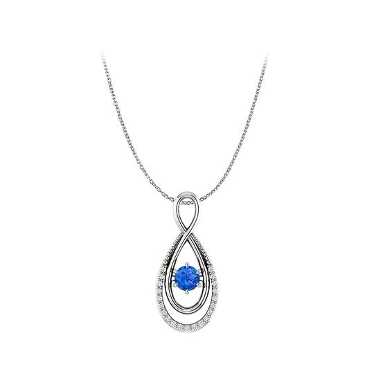 Preload https://img-static.tradesy.com/item/25129054/blue-round-sapphire-and-diamonds-infinity-pendant-in-gold-necklace-0-0-540-540.jpg