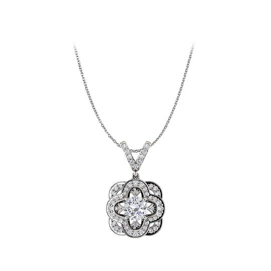 Preload https://img-static.tradesy.com/item/25129062/white-round-cubic-zirconia-accented-14k-gold-pendant-necklace-0-0-540-540.jpg