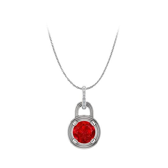 Preload https://img-static.tradesy.com/item/25129073/red-true-ruby-and-diamonds-round-pendant-in-14k-white-gold-necklace-0-0-540-540.jpg