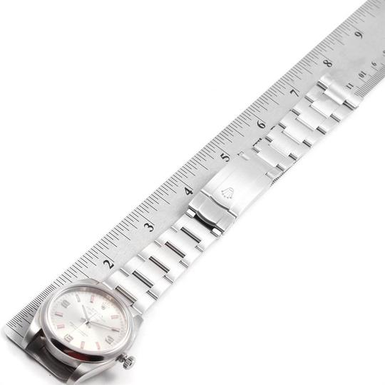 Rolex Rolex Air King Silver Dial Pink Index Hour Markers Steel Watch 114200 Image 10