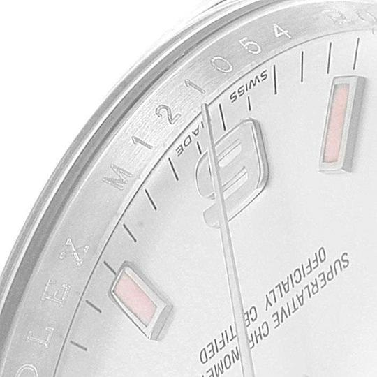 Rolex Rolex Air King Silver Dial Pink Index Hour Markers Steel Watch 114200 Image 5