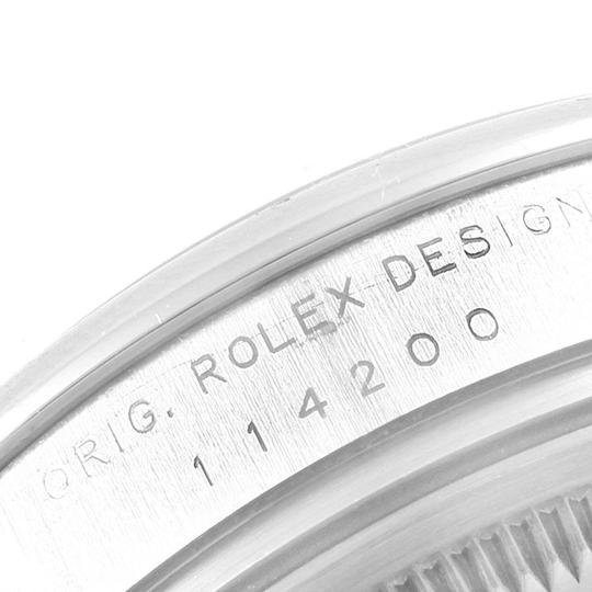 Rolex Rolex Air King Silver Dial Pink Index Hour Markers Steel Watch 114200 Image 7