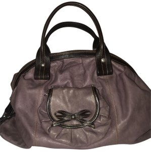 Nordstrom Leather Leather Purse Satchel in Purple