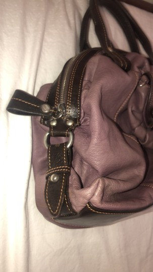 Nordstrom Leather Leather Purse Satchel in Purple Image 10