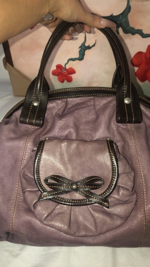 Nordstrom Leather Leather Purse Satchel in Purple Image 1