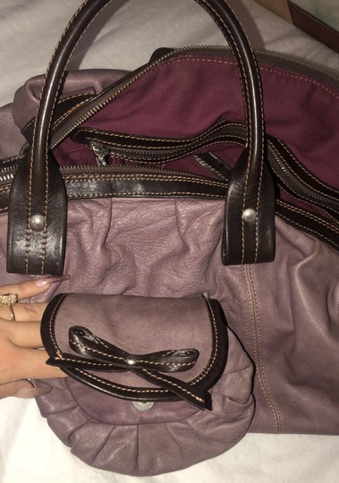 Nordstrom Leather Leather Purse Satchel in Purple Image 2