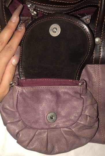 Nordstrom Leather Leather Purse Satchel in Purple Image 3