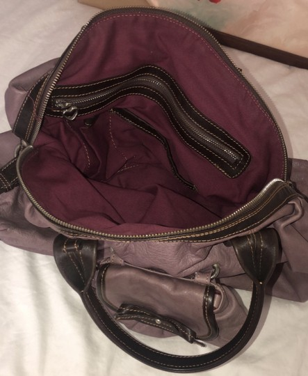 Nordstrom Leather Leather Purse Satchel in Purple Image 4