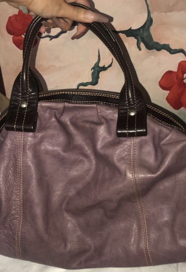Nordstrom Leather Leather Purse Satchel in Purple Image 7