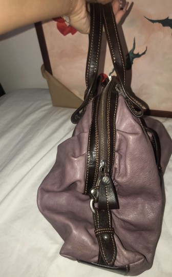 Nordstrom Leather Leather Purse Satchel in Purple Image 8