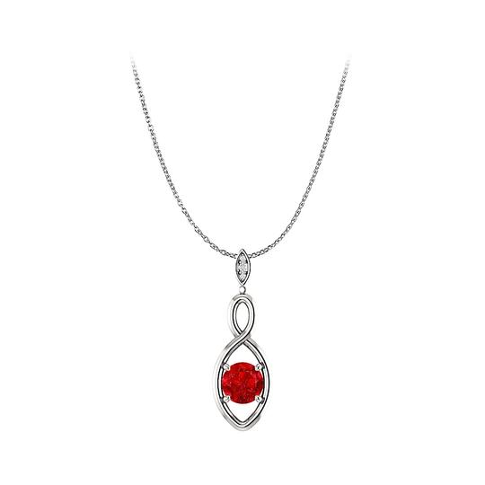 Preload https://img-static.tradesy.com/item/25129192/red-ruby-and-diamonds-infinity-pendant-in-14k-white-gold-necklace-0-0-540-540.jpg