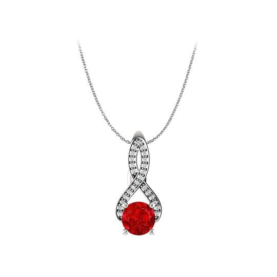 Preload https://img-static.tradesy.com/item/25129220/red-ruby-and-diamonds-infinity-pendant-in-14k-white-gold-necklace-0-0-540-540.jpg