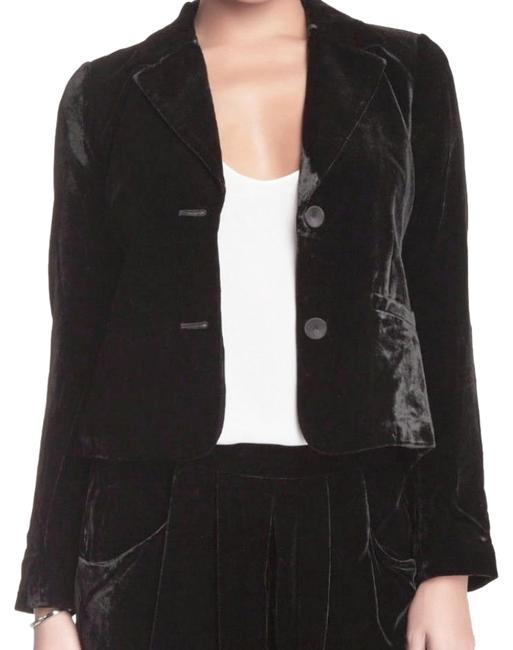 Eileen Fisher Plush Soft Velvet Welt Pockets Lined Silk Blend Dress Up Or Down Black Blazer Image 5