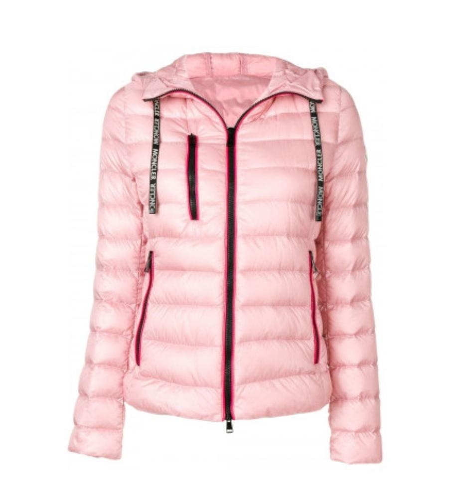 4ecfb8e04 Moncler Light Pink New Seoul Quilted Down Puffer Jacket Coat Size 10 (M)