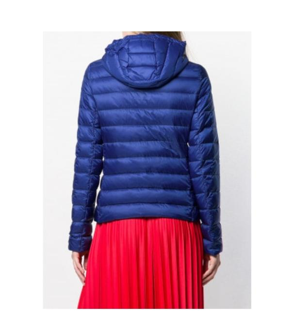 Moncler Blue New Seoul Quilted Down Puffer Jacket Coat Size 4 (S)