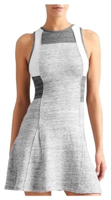 Item - Gray and White 234567 Short Casual Dress Size 2 (XS)
