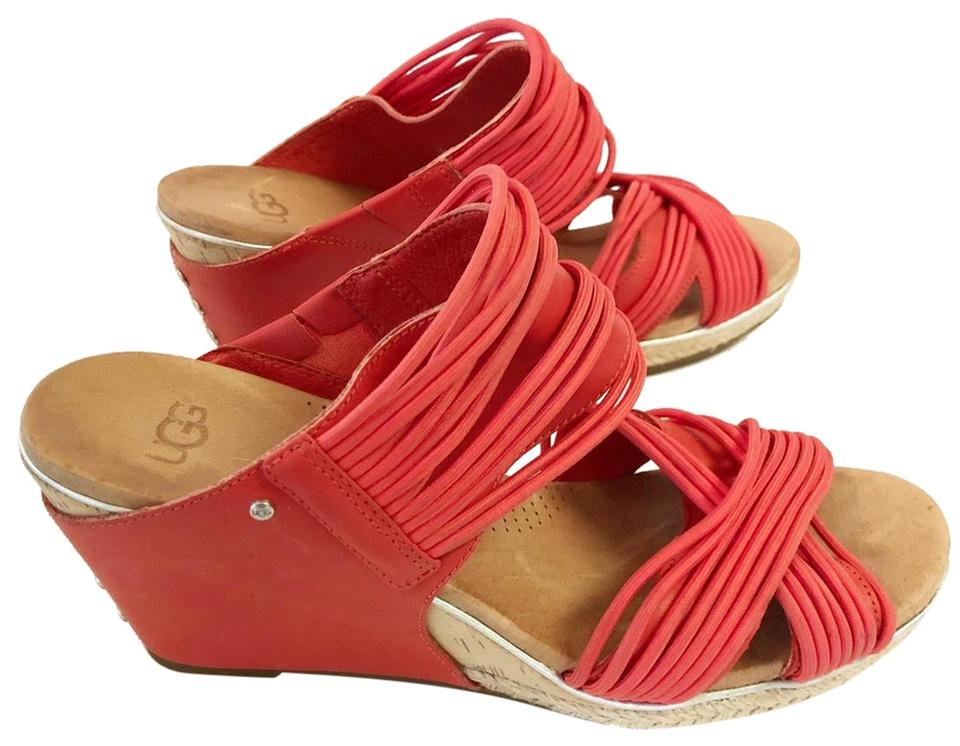 9ad55f5ca1f UGG Australia Cayenne Hilarie Leather Sandals Wedges Size US 9 Regular (M,  B) 67% off retail