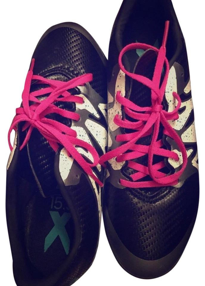 ace7e626c3 adidas Black White Pink Turquoise Soccer Sneakers Size US 5.5 Regular (M, B)