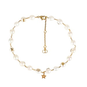Dior Antique Gold And Mother Of Pearl Choker Necklace
