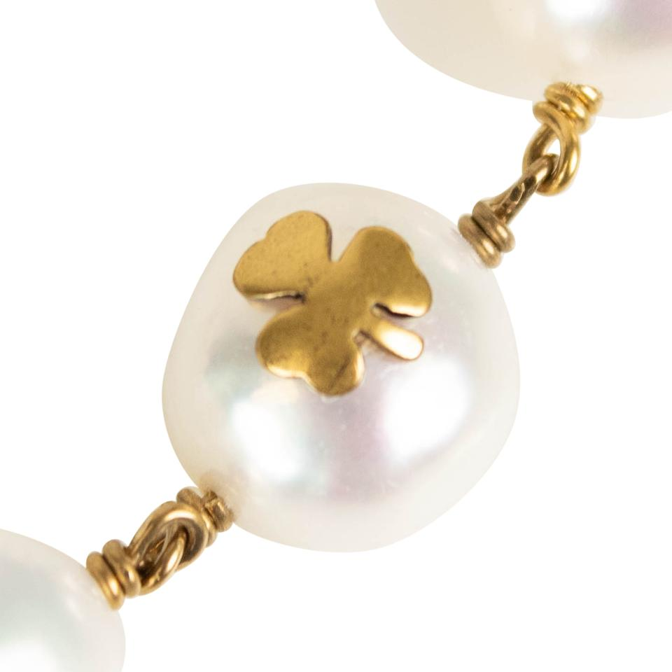 6a01260b947a9 Dior Gold Antique and Mother Of Pearl Choker Necklace