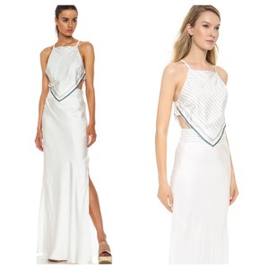 white, ivory, blue Maxi Dress by Band of Outsiders
