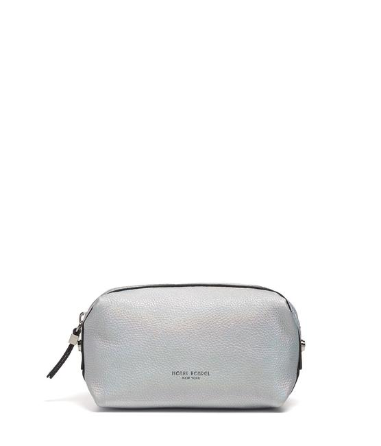 Item - Cosmetic Case Crosby Crackle Metallic Small Silver Holographic Leather Weekend/Travel Bag