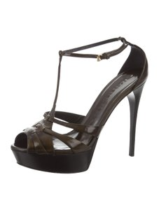 Burberry Italy Sandals Pumps BROWN Platforms