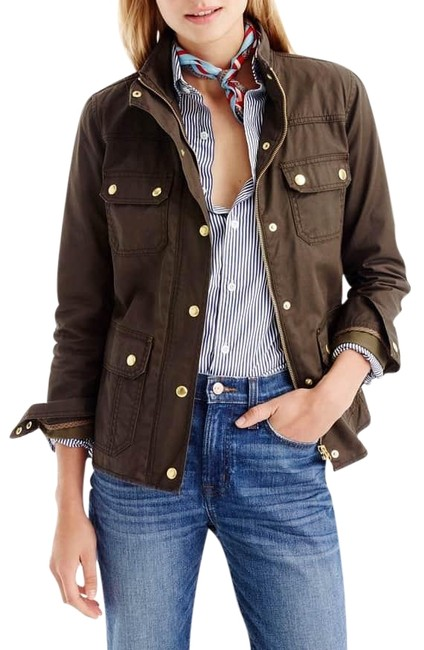 Item - Brown/Army Green Downtown Field Jacket Size 8 (M)