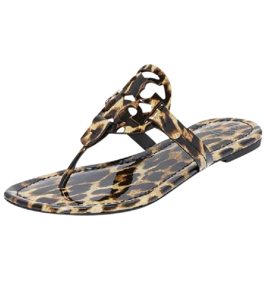 a8d68e253 Tory Burch Multicolor 11m Miller Natural Leopard Patent Calf Sandals ...
