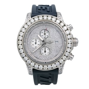 54b75b588a Breitling Breitling Super Avenger A13370 48MM White Diamond Dial With 20.50  CT