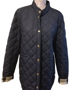 Burberry Navy Blue with Gold Button finish. Jacket