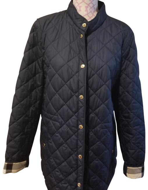 Item - Navy Blue with Gold Button Finish. Quilted Jacket Size 18 (XL, Plus 0x)