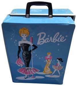 Barbie Vintage 60s Barbie baby blue Top handle carrying case